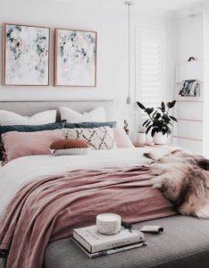 decoratie ideen voor een roze slaapkamer