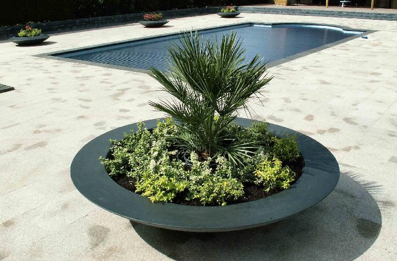 schaalvormig plantenbak polyester