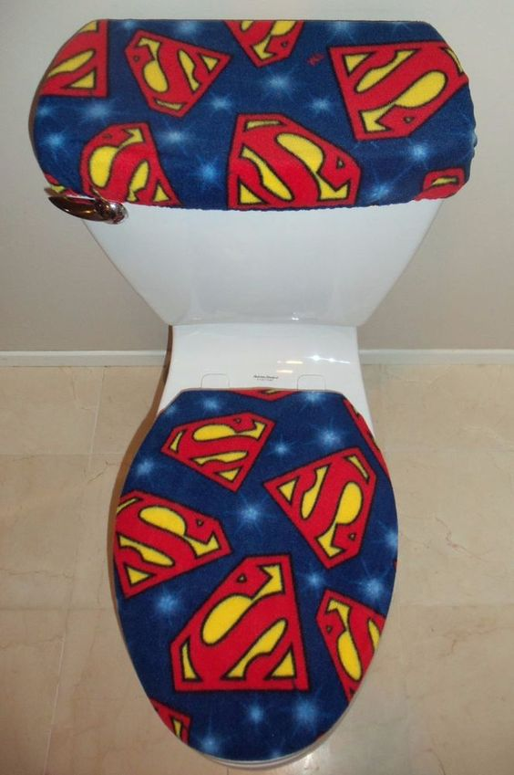 toilet met superman thema